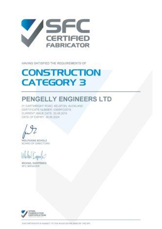 Pengelly Engineers SFC Certificate