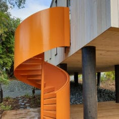 Fire-rated-painted-steel-spiral-staircase